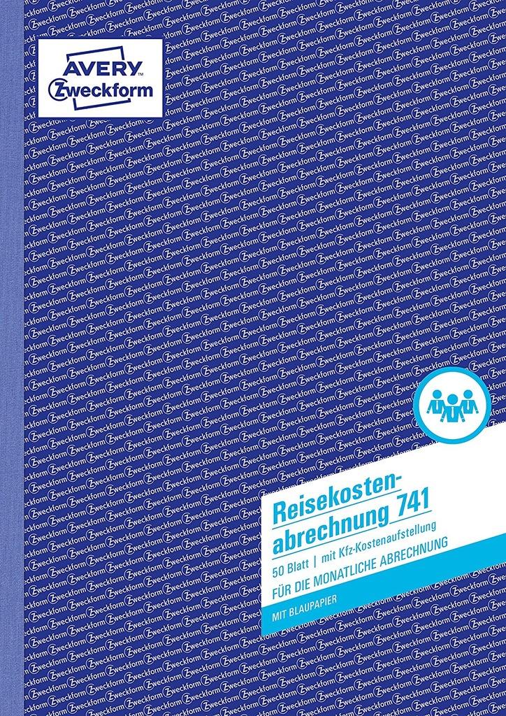 Avery Zweckform Zeszyt Raportu wydatków podróży A4