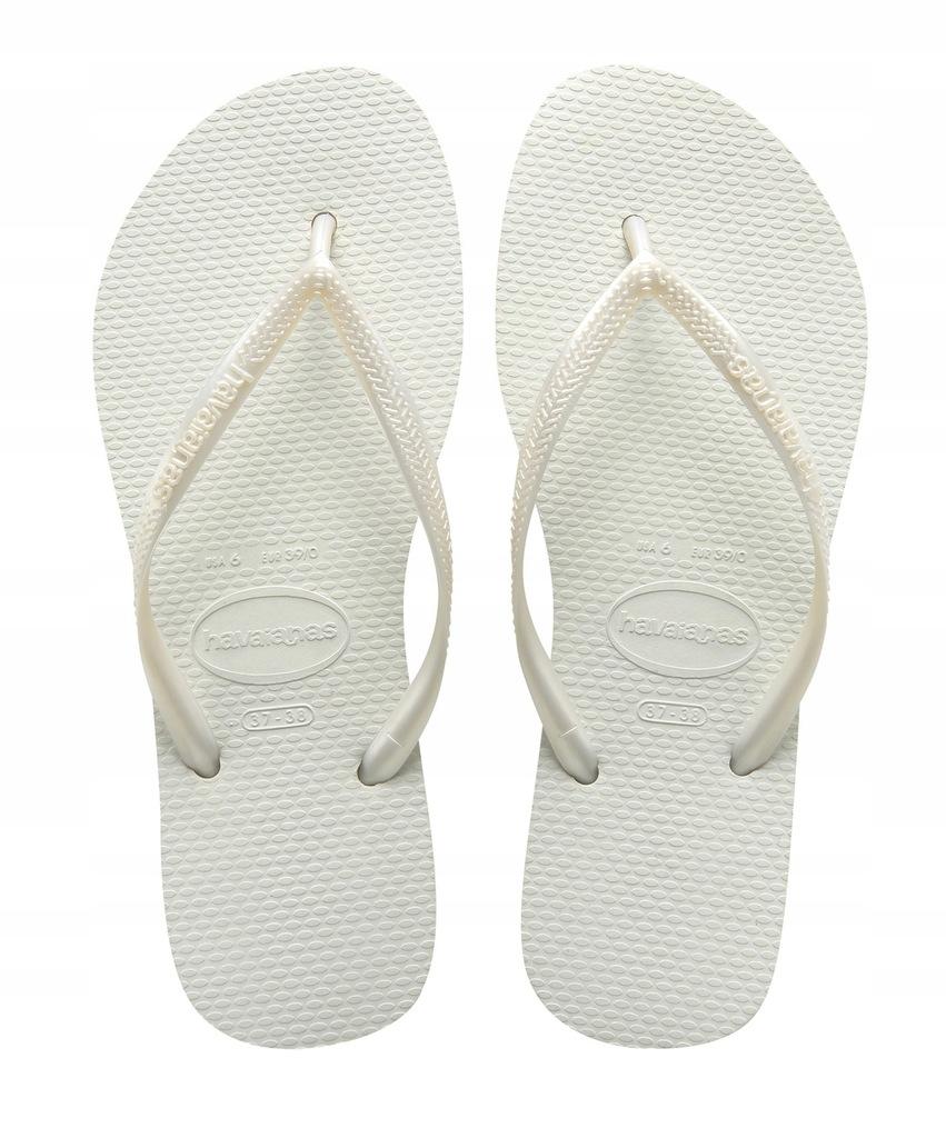 KLAPKI JAPONKI HAVAIANAS SLIM WHITE 35/36