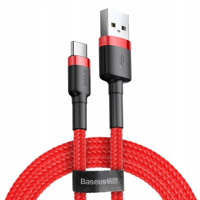 Kabel USB-C Baseus Cafule 2A 2m (czerwony) Baseus