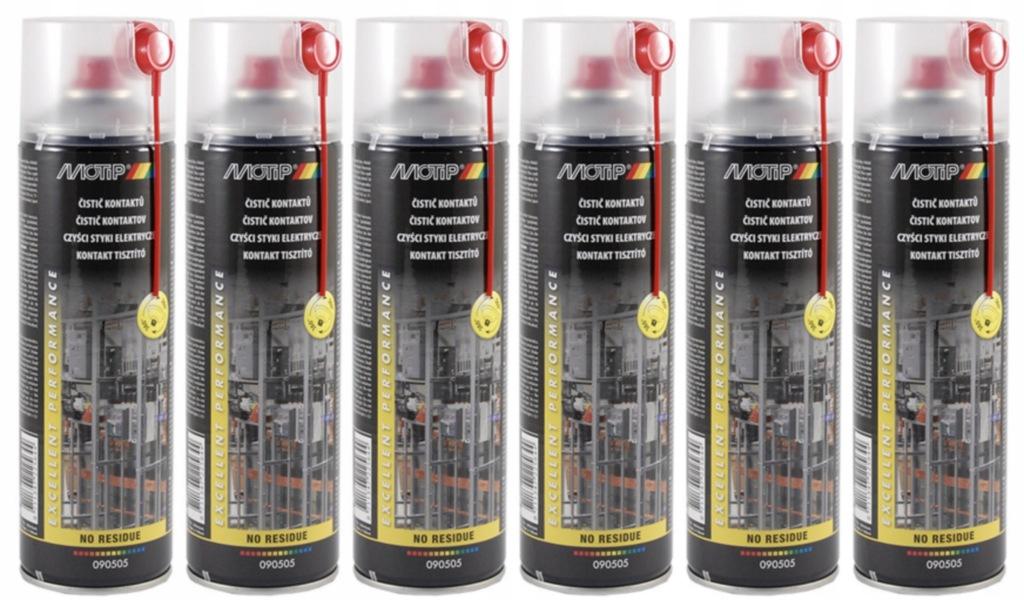 Środek czyszczący styki MOTIP spray 500ml 6szt