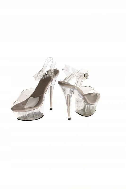 Buty- platformy przeźroczyste 39