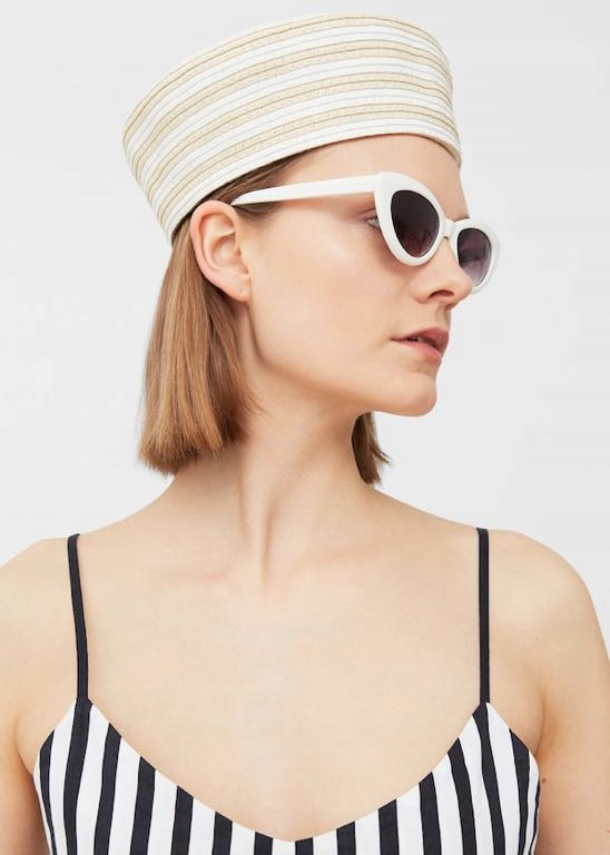 MANGO kapelusz czepek lato słoma unikat jedyny hit