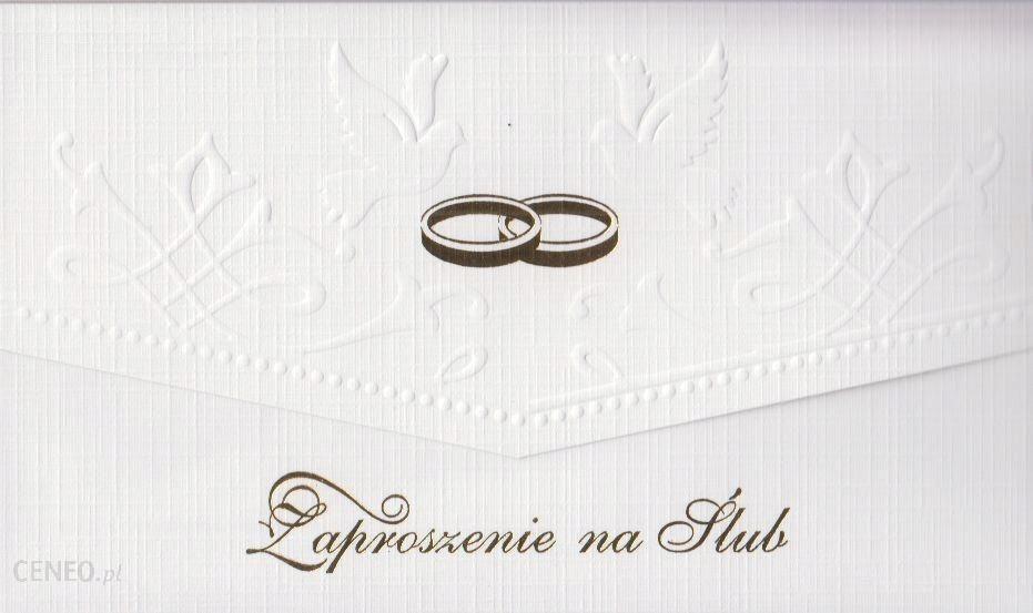Zaproszenie Ślubne ślub tłoczone koperta Ś16A