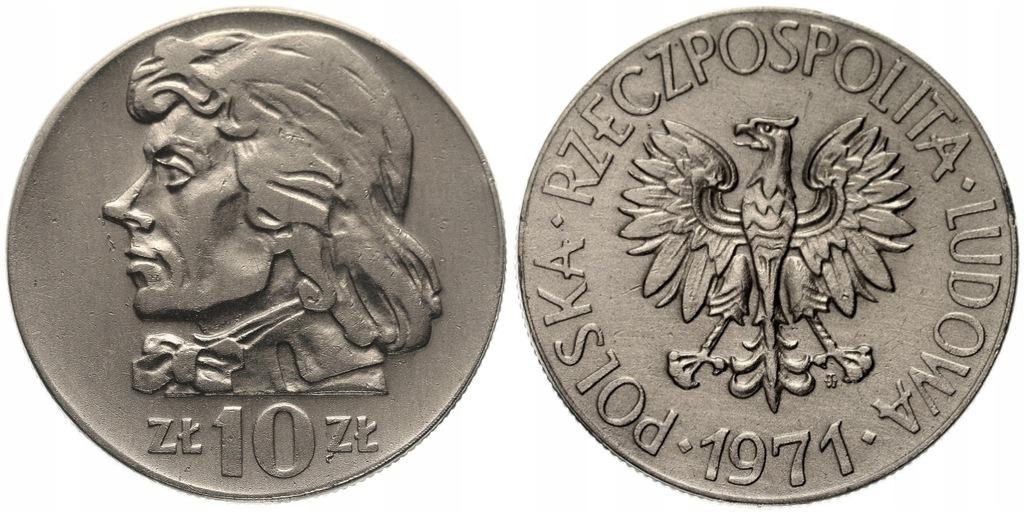 245.Polska -PRL - 10 zł Kościuszko -1971 -St. 2 #A