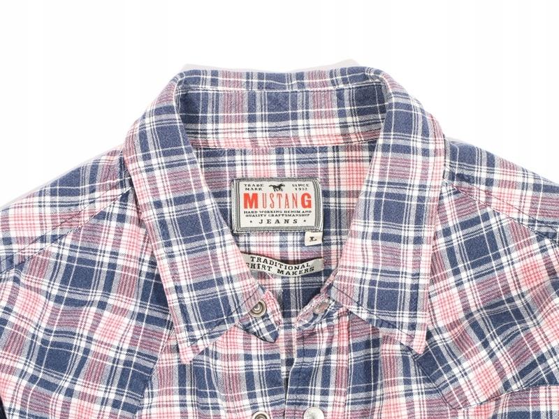 Mustang Jeans Koszula Męska Taliowana Kratka *L  nTIi5