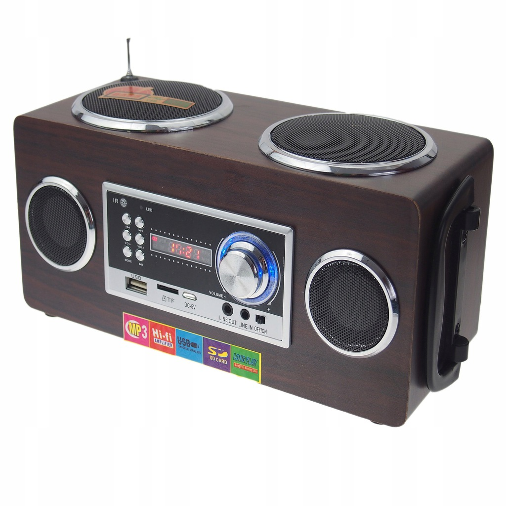 RADIO ZASILANE Z ZAPALNICZKI 12V ODTWARZACZ MP3 GŁ