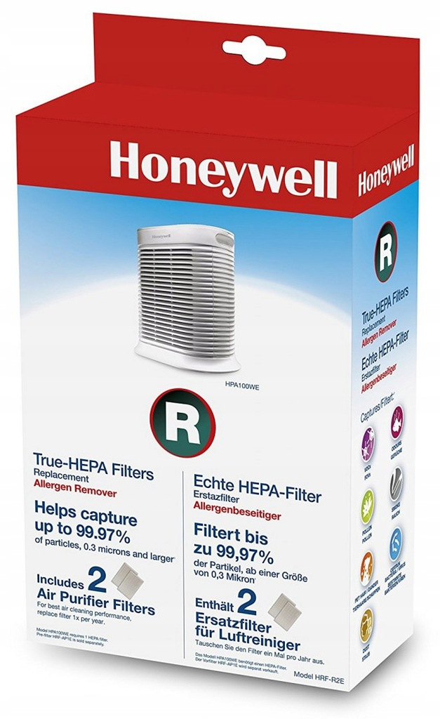 Honeywell HPA100 filtr HEPA Filtr true HEPA do ocz