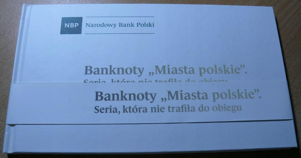 Pusty album na banknoty MIASTA POLSKIE 1990 r.