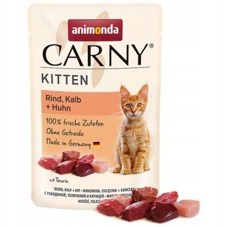 ANIMONDA Carny Kitten wołowina, cielęcina i kurcza