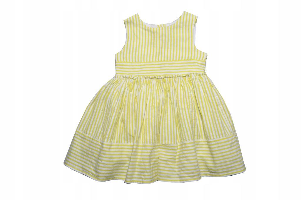 W789. GEORGE sukienka r. 80-86, 12-18 m-cy