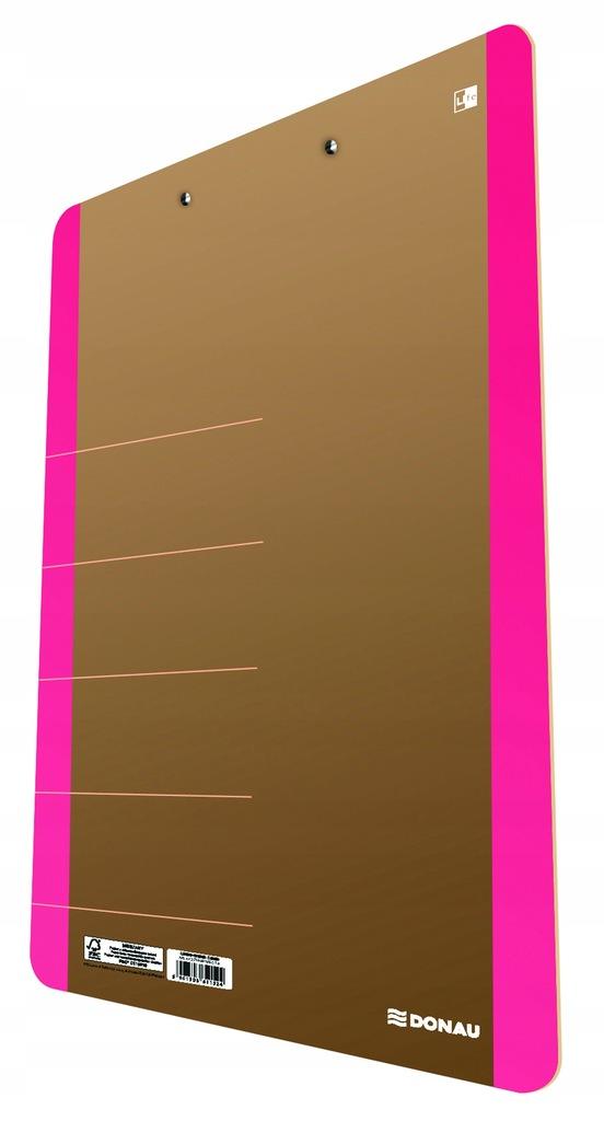 Podkładka do pisania Clipboard Donau A4 różowa