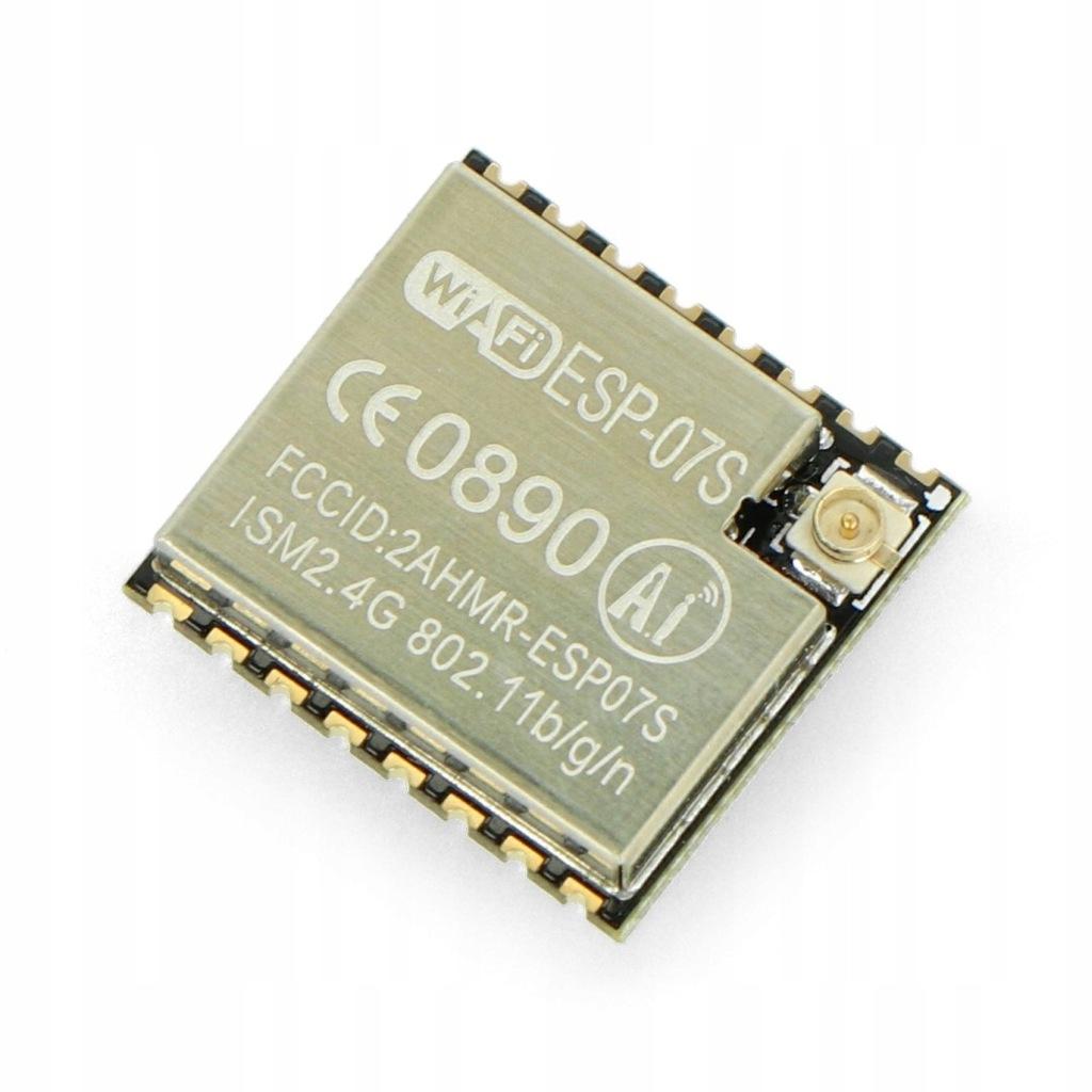Moduł WiFi ESP-07S ESP8266 9 GPIO ADC Gniazdo U.FL