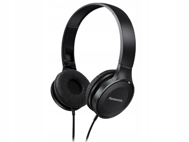 Czarne słuchawki Panasonic składane na podróże