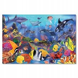 DUŻE PUZZLE PODŁOGOWE podwodny świat 48 elementów