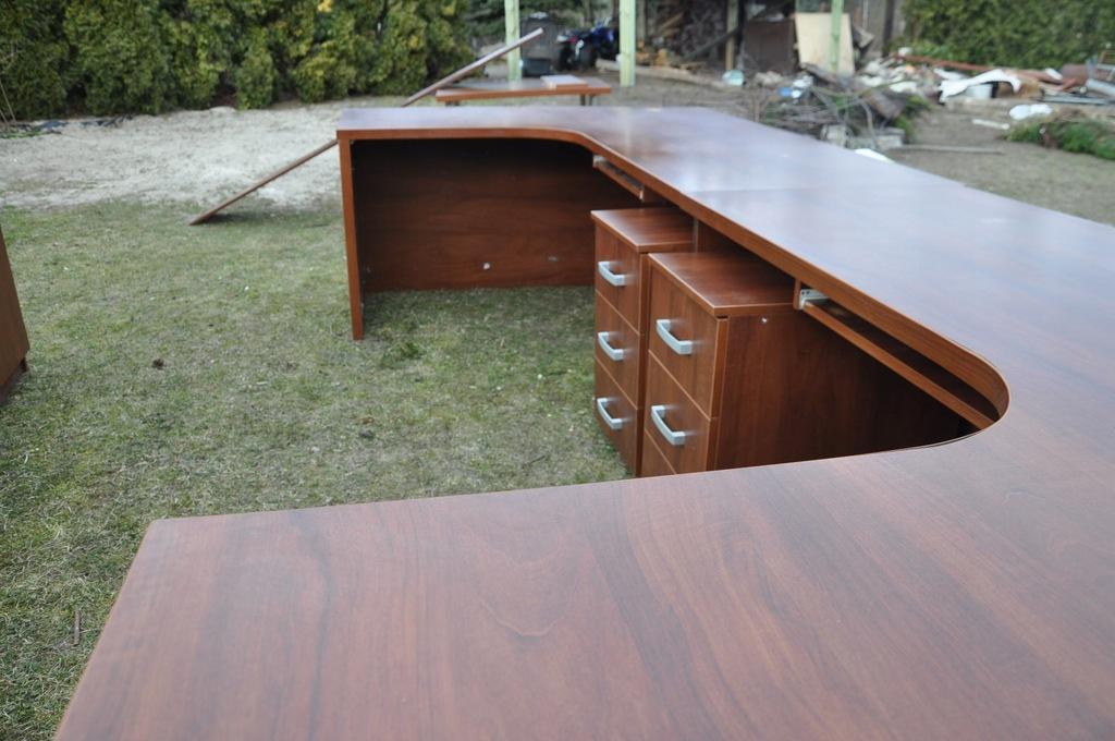 Meble biurowe 2 Zestawy biurko komoda kontener inn