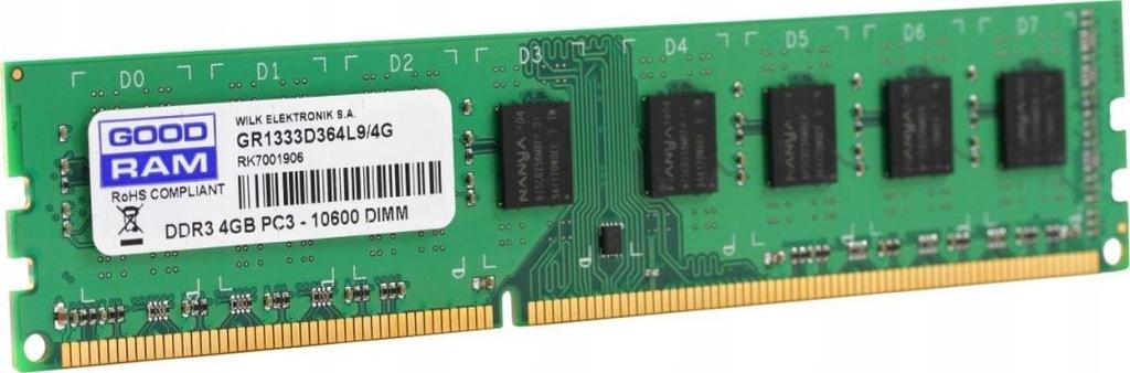 Goodram 4GB DDR3 moduł pamięci 1600 Mhz BCM
