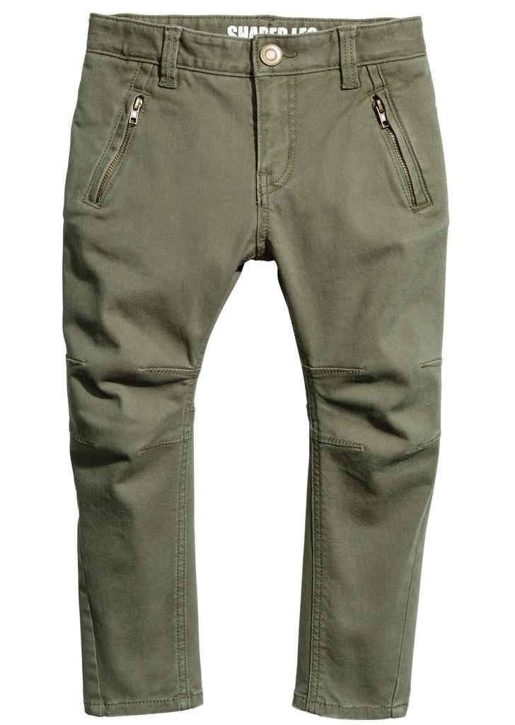 H&M Spodnie z diagonalu Shaped leg 134 cm
