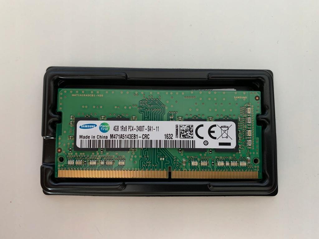 PAMIĘĆ RAM SAMSUNG 4GB 1Rx8 PC4-2400T DDR4 SODIMM