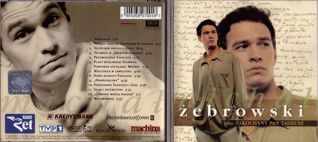 Michal Zebrowski Jako Zakochany Pan Tadeusz 1999 7404496383 Oficjalne Archiwum Allegro