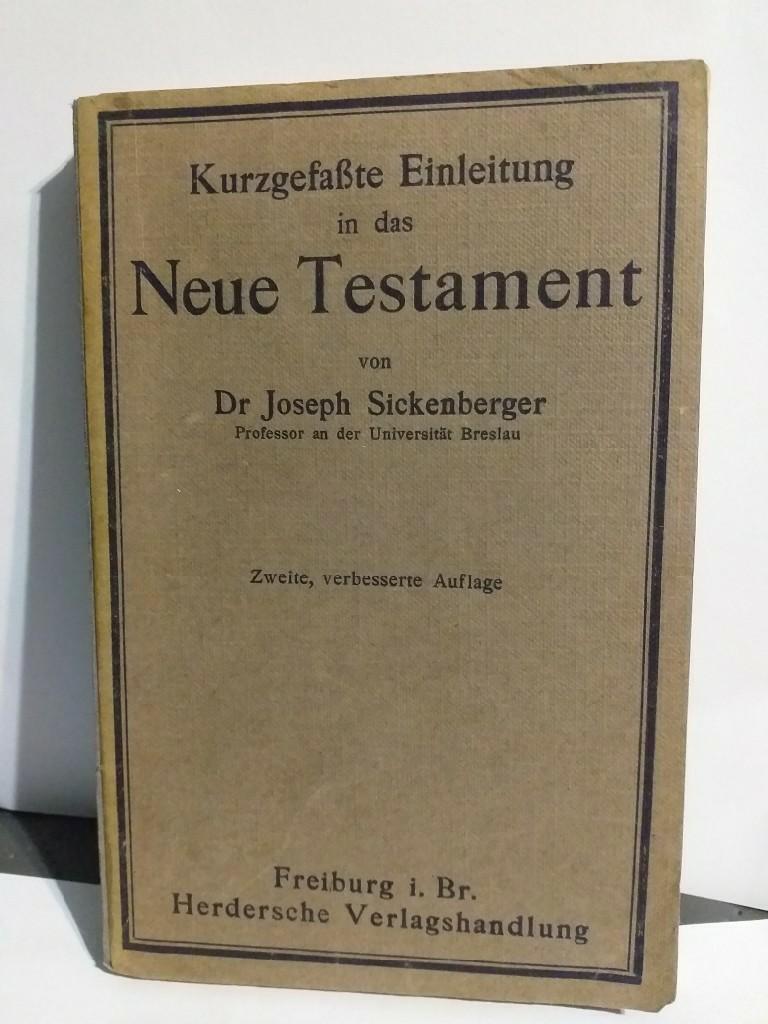 Krótkie wprowadzenie do Nowego Testamentu 1920