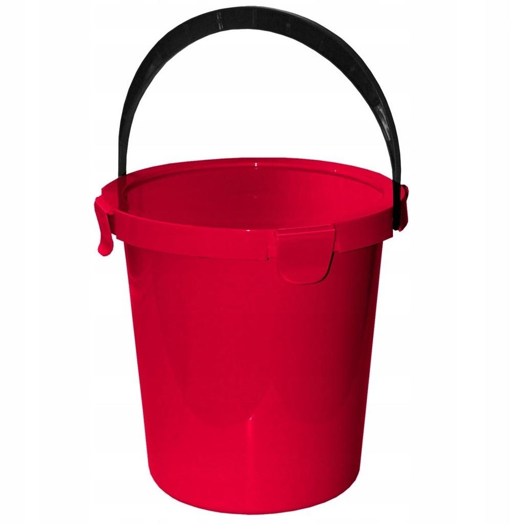 Wiadro z pokrywą Plast Team Berry 5L czerwone