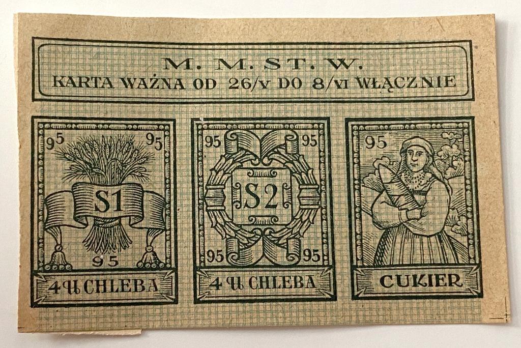 3674. Warszawa okres 95 - mała na chleb i cukier