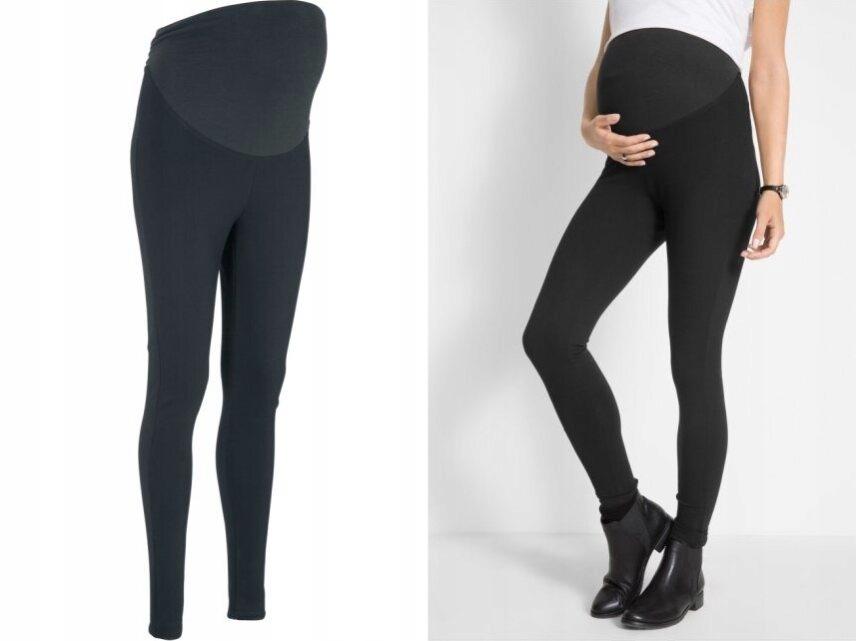 BPC czarne spodnie legginsy klasyczne 40/42