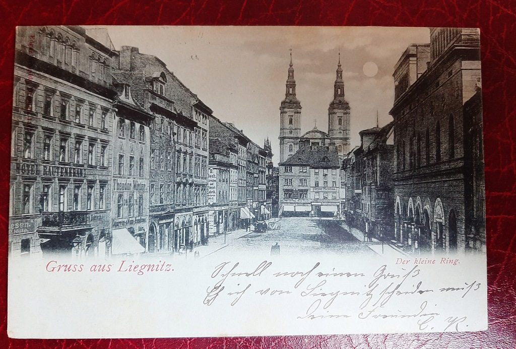 Pocztówka Gruss aus Liegnitz - Legnica 1901 r