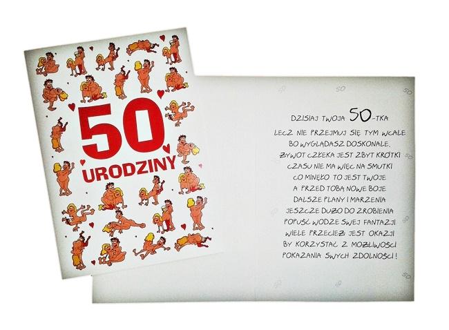 Prezent Na 50 Urodziny Dla Kobiety Kartka Xxxl