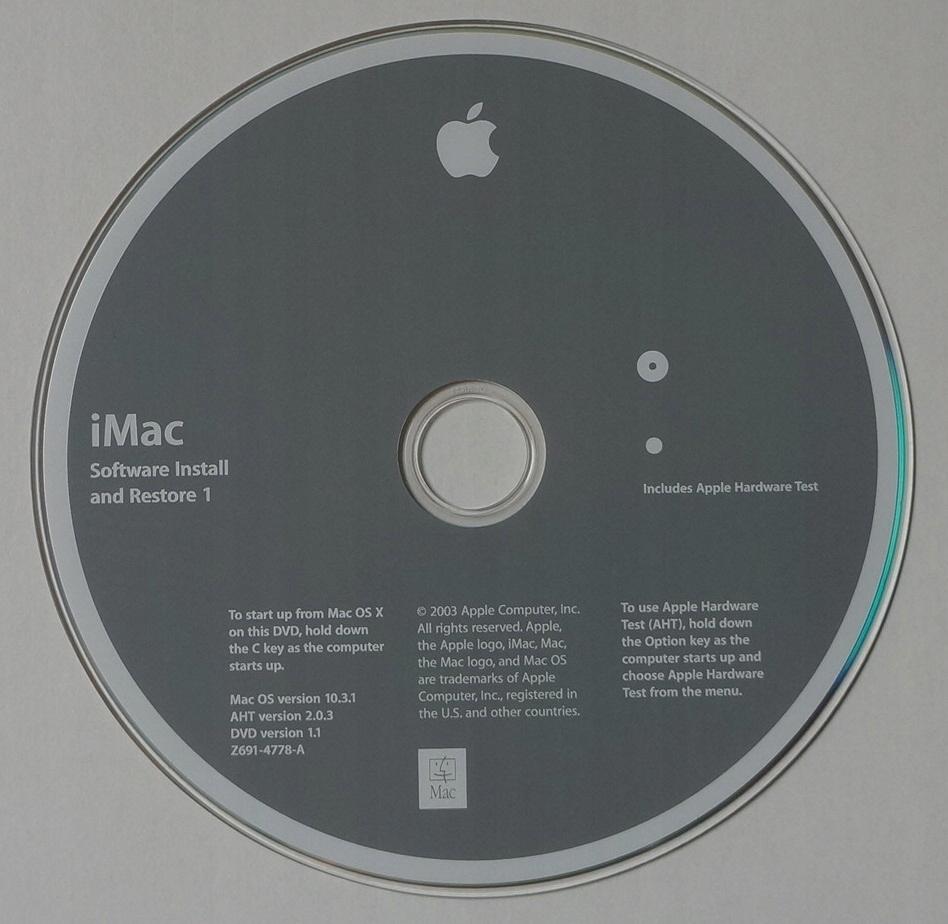 MAC OS X WERSJA 10.3.1 - iMAC