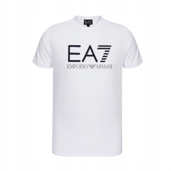 EMPORIO ARMANI biały t-shirt męski EA7 E16 r.M