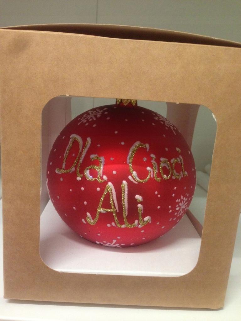 Bombka prezent na Mikołaja Święta Dla cioci Ali