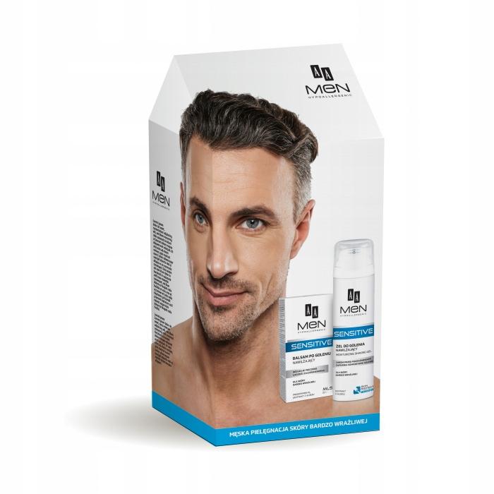 AA męski zestaw balsam po goleniu + żel do golenia