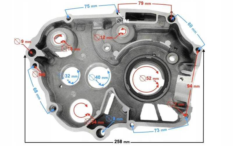 Karter silnika prawy DB10
