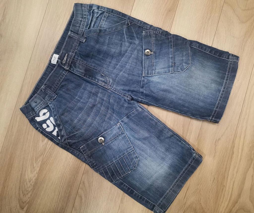 Krótkie spodenki jeans jeansowe 152cm 10-11l 158cm