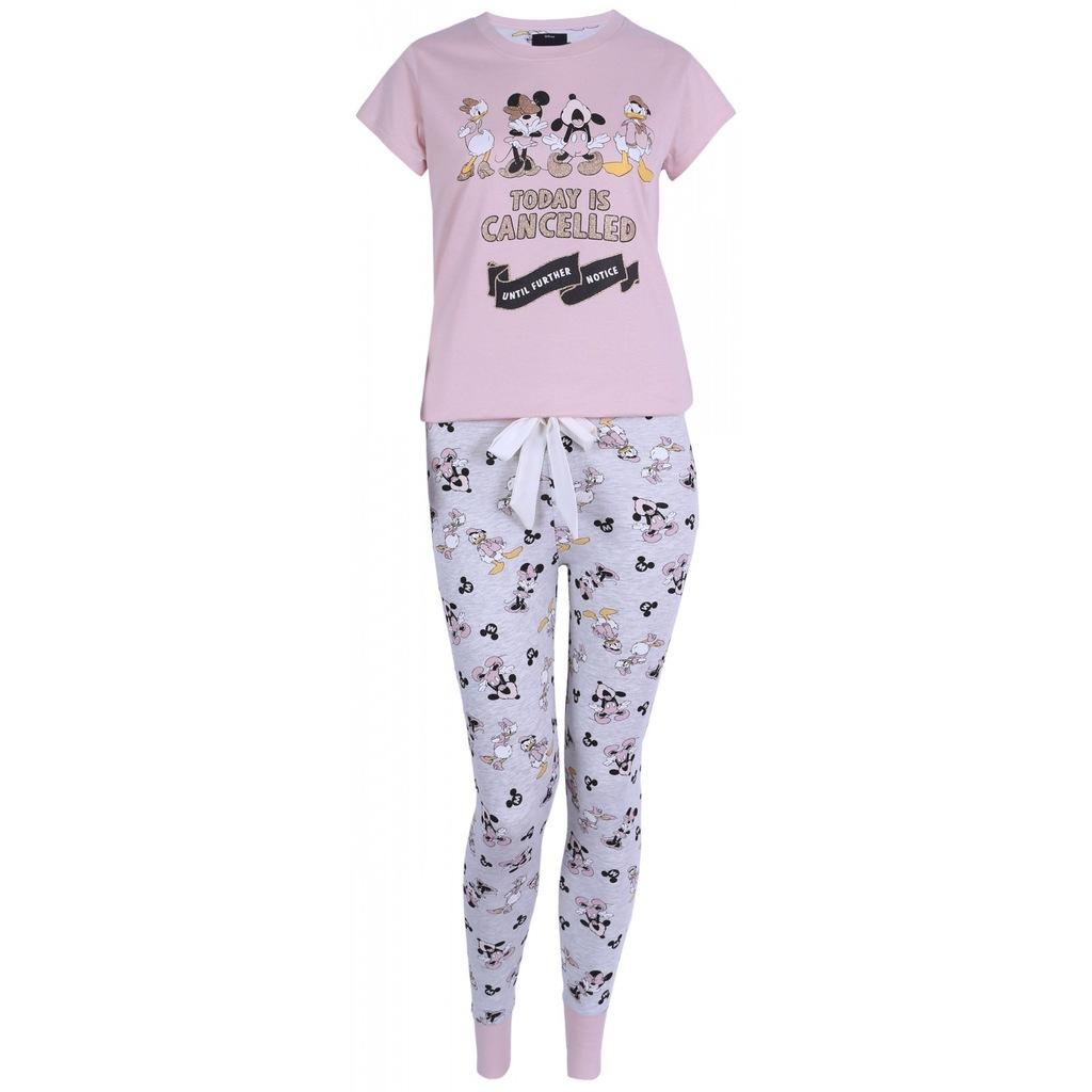 Szaro różowa piżama Myszka Mickey XS