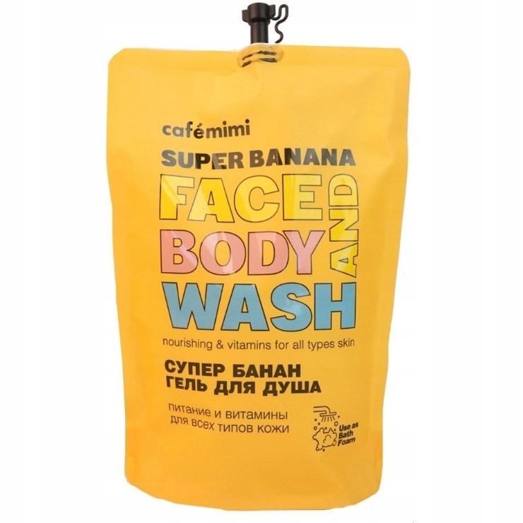 Żel do Mycia Twarzy i Ciała SUPER BANANA 450 ml