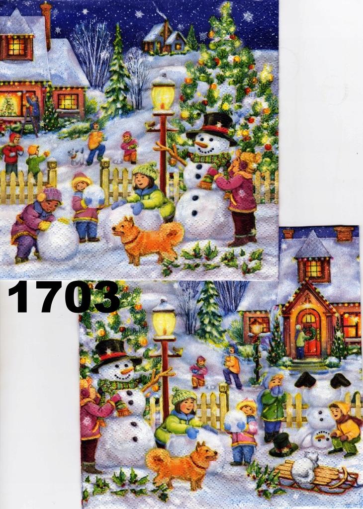 Serwetki do decoupage-2szt - ŚWIĘTA- ZIMA-NR 1703