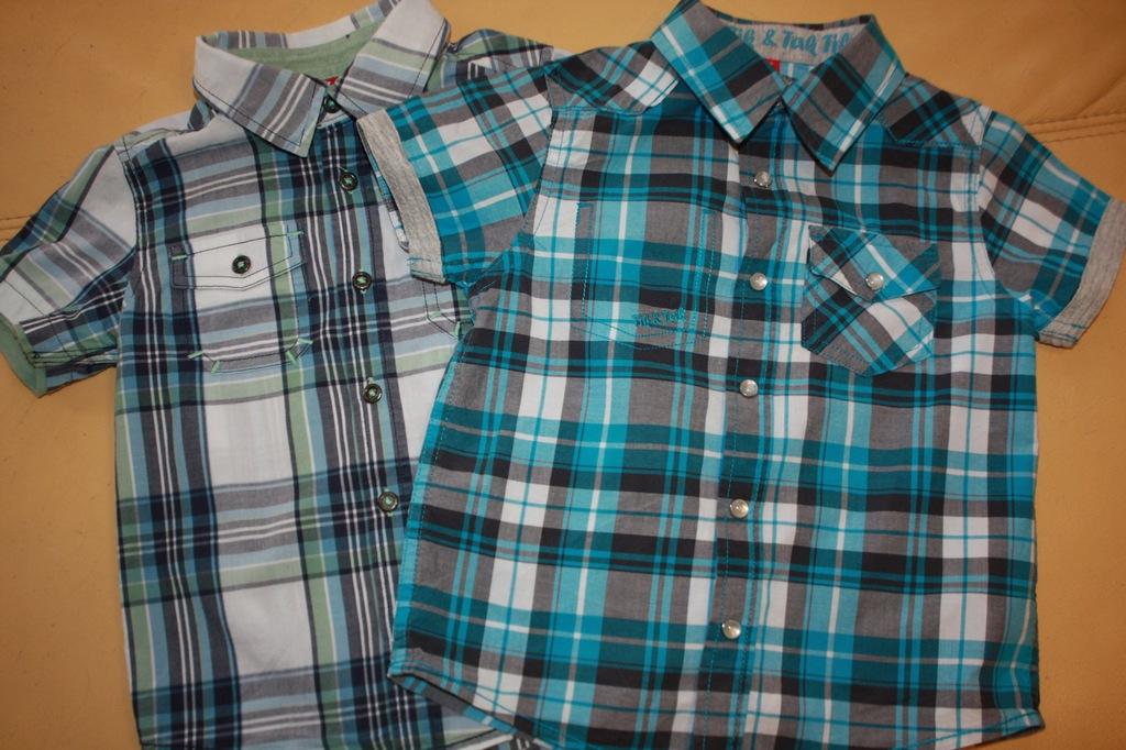 Dwie eleganckie koszulki z krótkim rękawem r. 92