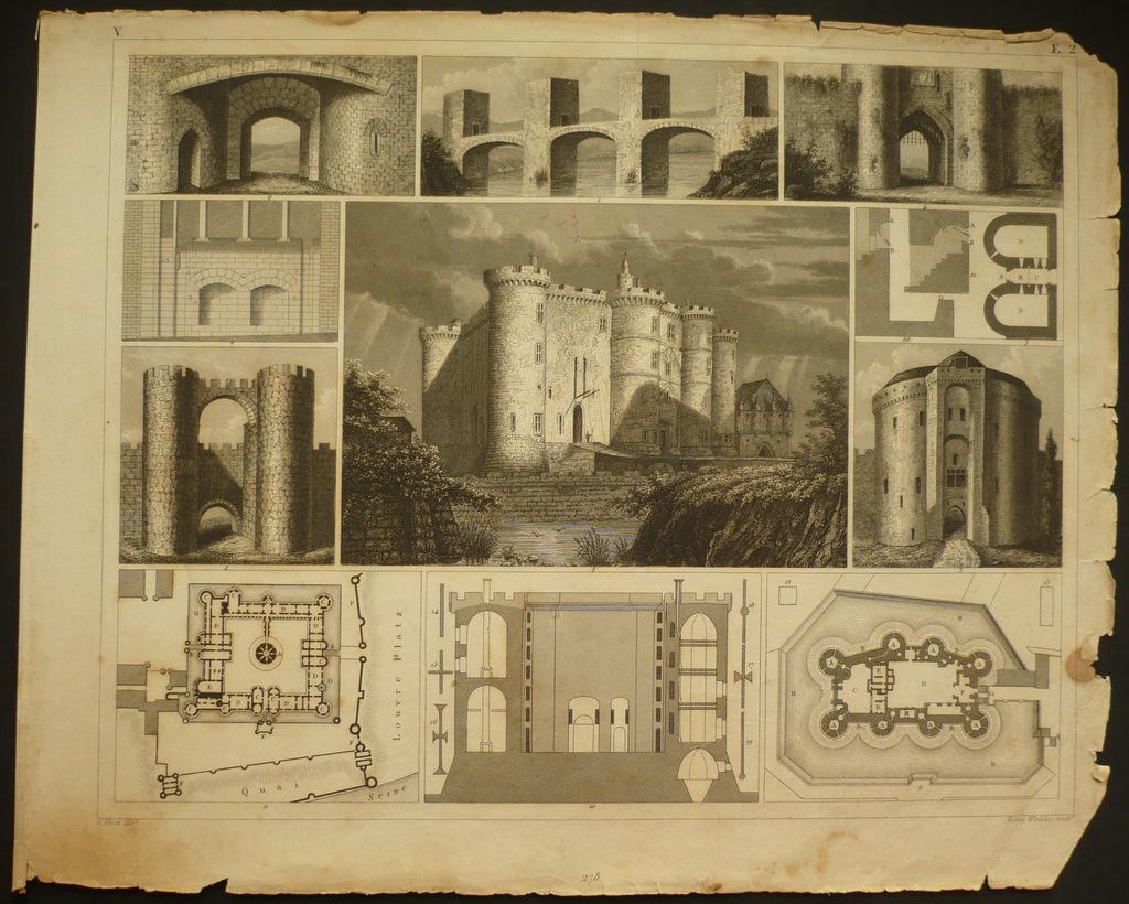 średniowieczne zamki, oryg. 1852