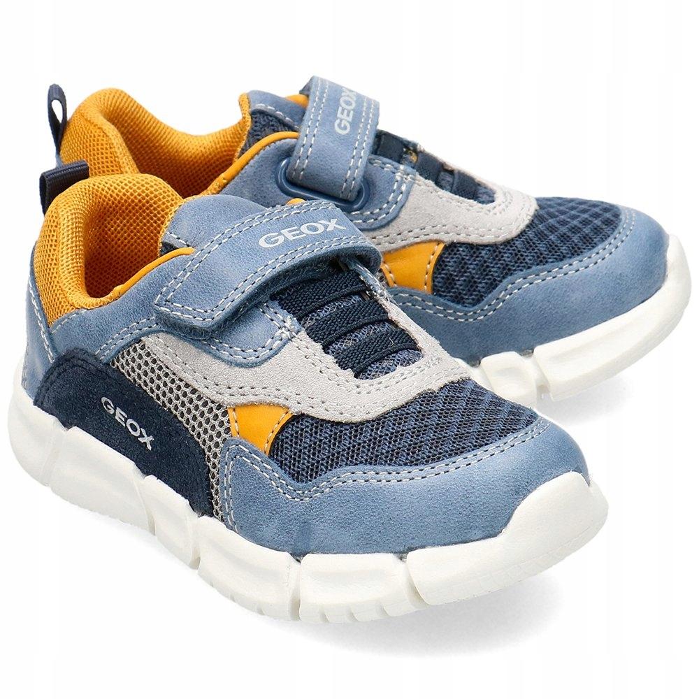 Geox Niebieskie Sneakersy Dziecięce Rzepy R.22