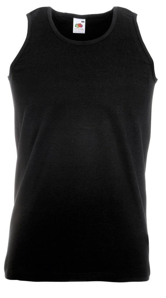 Koszulka FRUIT męski podkoszulek Black L