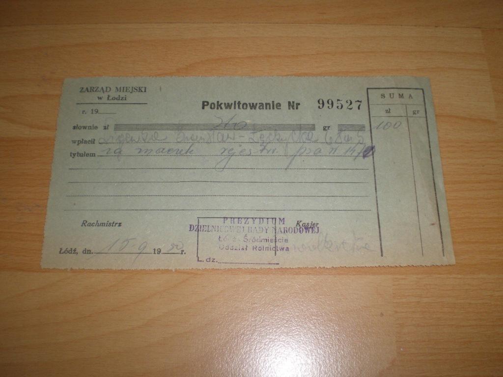 Łódź - Śródmieście - Rolnictwo -zapłata za psa1950