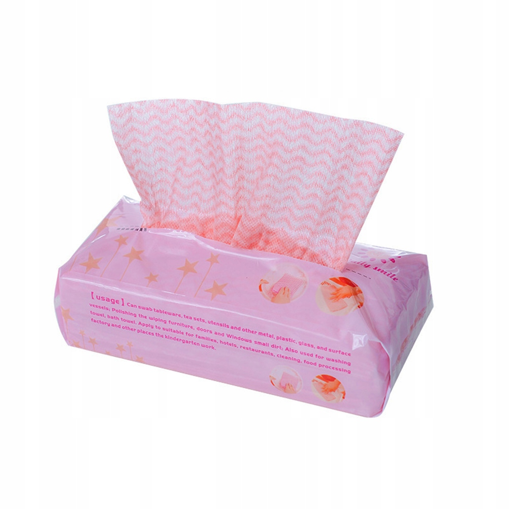 2 Packs Cleaning Dish Cloth Disposable Non-woven F