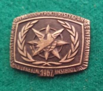 Odznaka-Międzynarodowy Rok Turystyki 1967r. (2)
