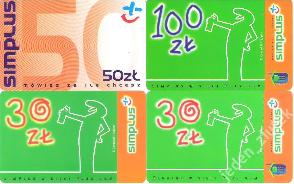 Karty GSM Plus z minionego wieku - BCM - zestaw #2