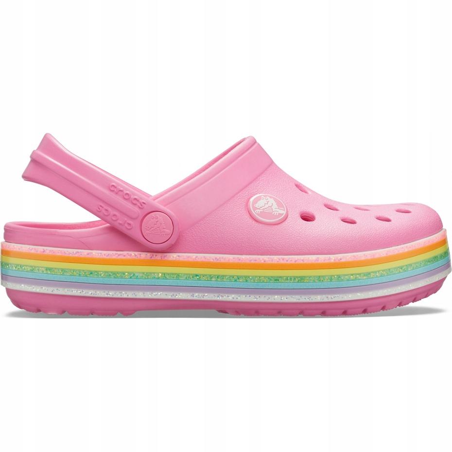 Crocs dla dzieci Crocband Rainbow Glitter Clg K ró
