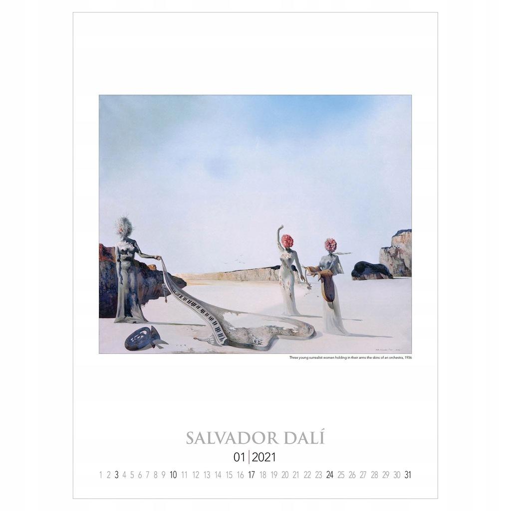 Salvador Dali reprodukcje malarstwo kalendarz 2021
