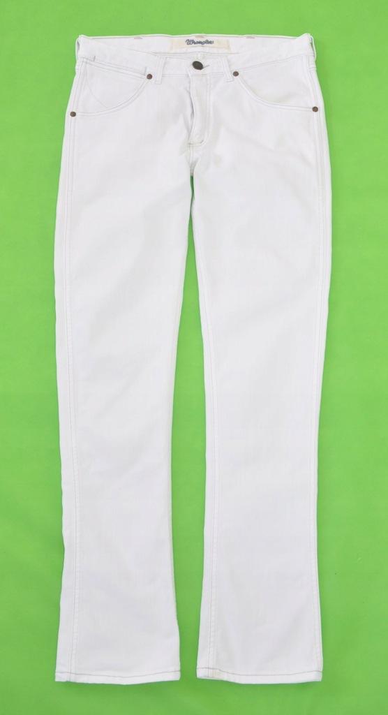 WRANGLER spodnie białe jeansowe 33/34 pas 88