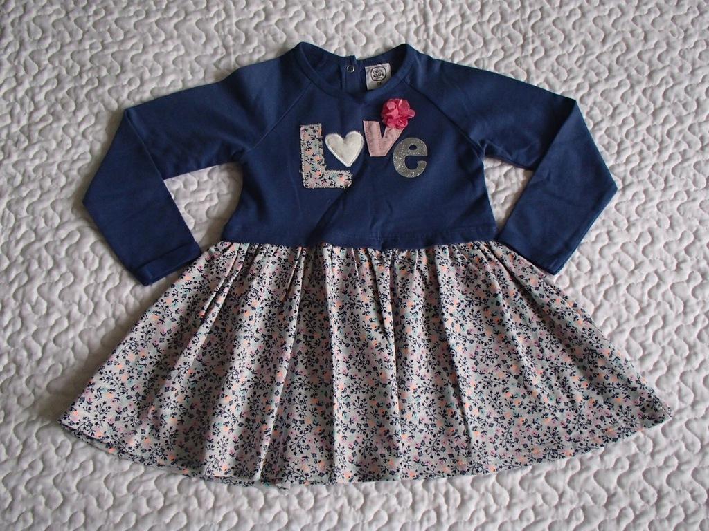 Cool Club sukienka niebieska kwiatki nowa roz 98